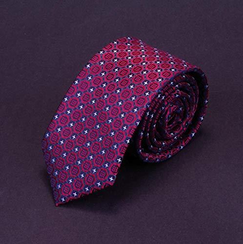 LLTYTE Quality Slim Tie Mens 6Cm Necktie Business Red Green Wedding Tie Gift Jacquard Woven Skinny Ties for Men Woven 3 Mens Tie