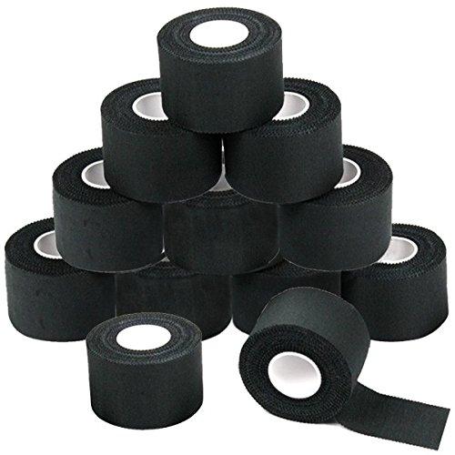 12 x Sport tape 3,8 cm x 10 cm Colore: nero