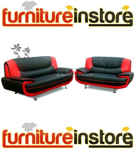 Pasero B & R Kunstleder 3+ 2Stück Sofa Suite-Sitzer