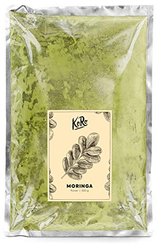 BIO Moringa | 100% Pulver | Beliebtes Superfood | Naturbelassen | Vegan | Glutenfrei | 500 g Packung | KoRo | Moringa