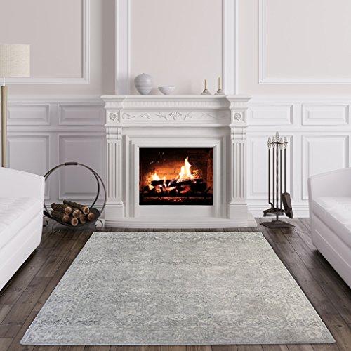 The Rug House Halcyon Traditioneller Vintage-Teppich mit Einem klassischen persischen Design für Das Wohnzimmer oder Schlafzimmer in Grautönen 160cm x 230cm