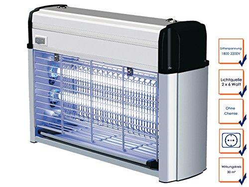 Professionale insetticida elettrico, 2x 6W lampade UV, alta tensione fino a 2200V, con montaggio a parete; GGG ga