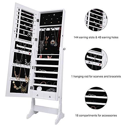 Abgeschrägte 2-tür (Ganzkörperspiegel-BH Schmuckschrank Schrank mit magnetischer Tür Hohe teure abgeschrägte Schmuckschränke Schmuckschränke 0514)