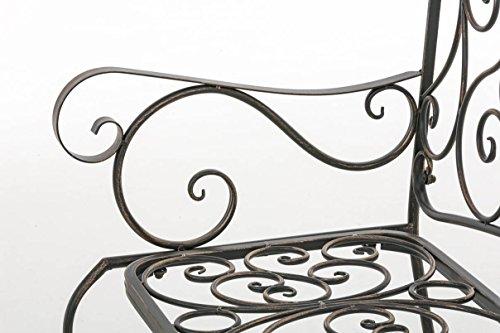 CLP Metall Gartenbank TUAN, 2-er Sitz-Bank Garten, Eisen lackiert, Design nostalgisch antik, 105 x 50 cm Bronze - 6