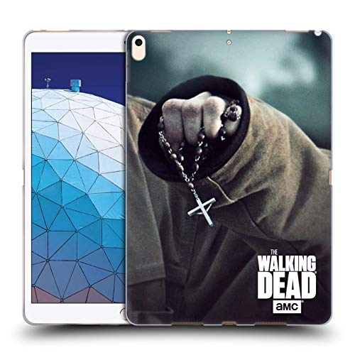 Head Case Designs Offizielle AMC The Walking Dead Rosenkranz Schlüssel Kunst Soft Gel Huelle kompatibel mit iPad Air (2019) - Kunst Der Rosenkranz Der In
