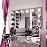 My Dari Light Hollywood Spiegel Theaterspiegel Spiegel mit glühbirnen schminkspiegel (Spiegel 80x60cm mit Kleine 4,5cm Lampen)