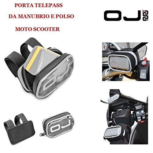 Telepasshalter für die Lenkstange oder das Handgelenk, Moped oder Motorrad, OJ M068 Aufbewahrungsetui für elektronische Geräte mit Klettbefestigung.