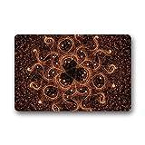 KLing Tapetes de Las Puertas Geometría Sagrada Símbolo Flor de la Vida Felpudo al Aire Libre/Interior Lavado a máquina Tapetes para el hogar Alfombras 16 x 24,40 cm x 60 cm