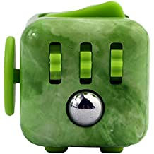 Fancyku Fidget Attention Cube Relieves Stress And Anxiety For Children And Adults, Jade green