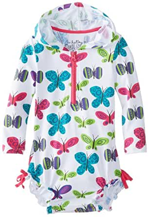 Hatley Baby Girls Infant Rash Guards Ditsy Butterflies Swimsuit, Multicoloured, 12-18 Months