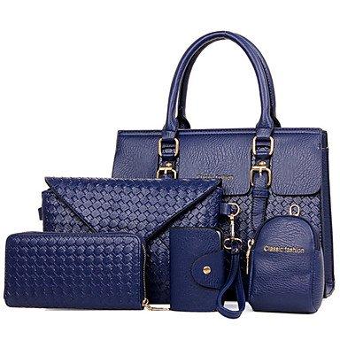 La donna pu formale Ufficio Outdoor & Carriera Set borsa,rosso Blue
