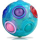 Magic Rainbow Ball Pack Puzzle Ball Cube Puzzel Educatief Speelgoed Lichtgevend Hersenen Teasers Educatief Speelgoed voor kinderen Volwassenen Blauw