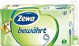 Zewa bewährt Toilettenpapier, strapazierfähiges WC-Papier 3-lagig in zartem Gelb, 1 x Vorratspack mit 8 Rollen