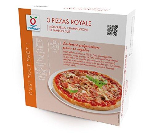 TOUPARGEL - Pizzas royale - 3 x 350 g - Surgelé