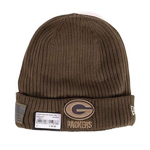 New Era Green Bay Packers Beanie On Field 2018 Salute to Service Knit Green - One-Size