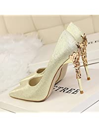 XiaoGao neue damenschuhe mit 10 zentimeter von super - heels und einzelne schuhe,schwarz