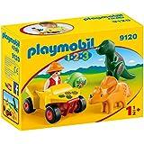 Playmobil 1.2.3 - Quad con 2 Dinos (9120)