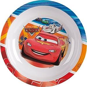 Ciao - 33919- Disney Pixar - Plato hondo de melamina multicolor con estampado de la película Cars