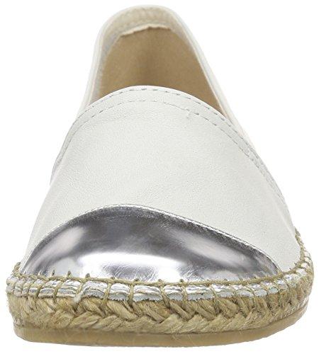 Macarena Velvet/espejo, Espadrilles femme Blanc - Weiß (OFF WHITE/PLATA)