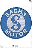 Patch - SACHS - Motor - Mofa - 50er- Motorrad - Motorbike - Motorsport - Motorcycles - Racing Team - Biker -Patches - Aufnäher Embleme Bügelbild Aufbügler