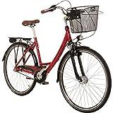 Galano 28 Zoll Prelude Citybike Stadt Fahrrad Licht 3 Gang Nexus, Farbe:rot