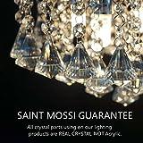 Saint-Mossi-Design-Modern-Pendelleuchte-Hngelampe-Kristall-Hngeleuchte-Deckenleuchte-Lster-20cm-1E14-Bulb-Base-Wohnzimmerlampe-Kchenleuchte-Schlafzimmerleuchte-Innenleuchte