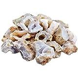 mookaitedecor Achat-Druse Rohstück Steine, Mineral Edelsteine für Familie/Büro/Garten/Aquarium Dekoration Schmückung, Kristall Reiki & Heilung (460g)