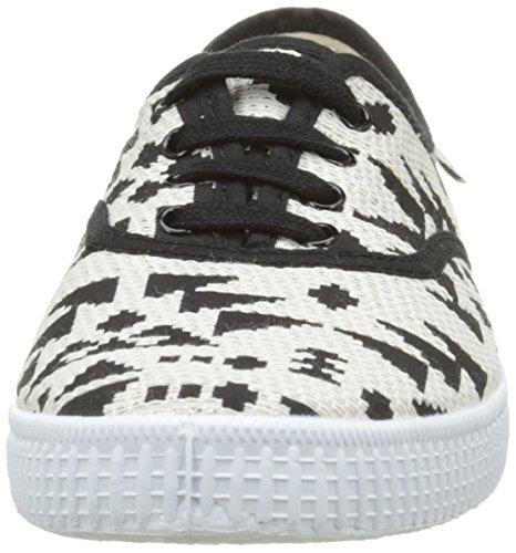 victoria Ingles Geometrico Lurex Unisex-Erwachsene Sneaker Schwarz - Noir (10 Negro)