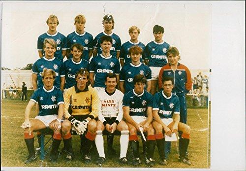 Vintage Foto von Rangers Football Club Spieler