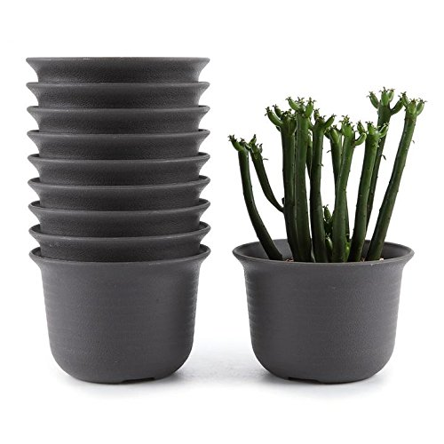 t4u-9cm-plastic-round-sucuulent-plant-pot-cactus-plant-pot-flower-pot-container-planter-tan-package-