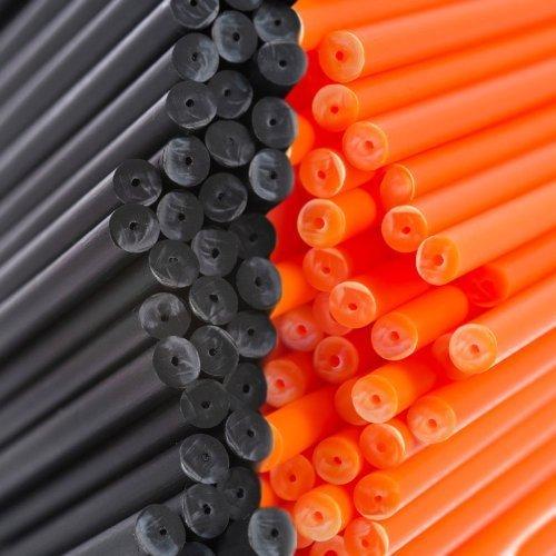 X500190mm x 4,5mm Halloween schwarz & orange farbige -