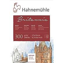 Hahnemuhle–Cuaderno de bloque de Britannia 300G/m²–17x 24cm caliente prensado