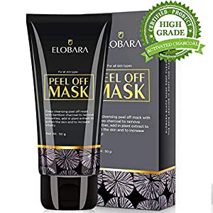 Activated charcoal peel off face mask as the black mask for blackhead remover to remove blackhead
