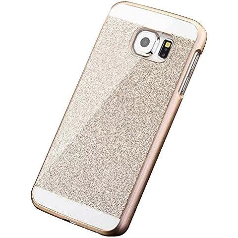 Brillante Glitter Funda pare Samsung Galaxy S7 Edge G9350 - Yihya Bling Crystal Case Cover Carcasa de Lujo de la caja del Rhinestone Crystal Diamond Resistente a Los Arañazos Bumper Shell - Oro