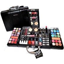 Exclusivo estuche de belleza de piel sintética para maquillaje y cosméticos, maletín con 63piezas (e797)