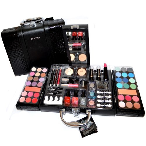 Exclusive Kosmetik Make-up Kunstleder Beautycase SCHMINKKOFFER 63 teilig (e797)