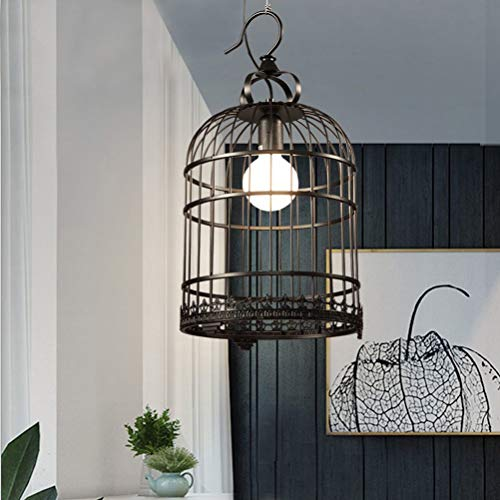 ZAsee Lanterns Wrought Iron Retro Lanterns Birdcage Chandeliers (Black)