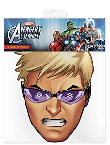 Official Marvel Avengers Assemble Hawkeye Card Face Mask (Hawkeye Aus Avengers)