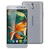 VKWorld G1 - 4G LTE Smartphone Libre Multitáctil Android 5.1 (Pantalla IPS 5.5', 1.3GHz MT6753 Octa Core, 3GB RAM 16GB ROM, 13.0MP Cámara, OTG, GPS, WIFI, Smart Wake, Dual SIM) (Gris)