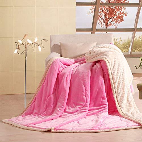 anell Babydecke warme leichte Plüsch werfen Fleece Couch Schlafsofa zu Decken Rosa König Größe 200 x 230 cm ()