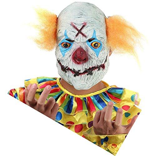 Hyaline&Dora Alte Hexe Gesichtsmasken für Halloween, Maskerade, Cosplay, Party Yellow Hair