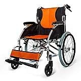 WANGXN Wheelchair Aluminium Folding Lightweight Portable Transit Travel Chair Attendant-Propelled Wheelchair