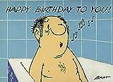 Postkarte A6 • 024 ''HB / Dr. Köbler singt'' von Inkognito • Künstler: LORIOT DESIGN GMBH © Loriot • Geburtstag