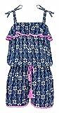 Snapper Rock Mädchen fashion Jumpsuit für Beach oder Pool Sommer Strandmode, Dunkelblau Pineapples, 11-12 jahre, 152-158cm
