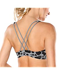 CRZ YOGA - Sujetador Deportivo Yoga Cruzados Espalda Sin Aros para Mujer