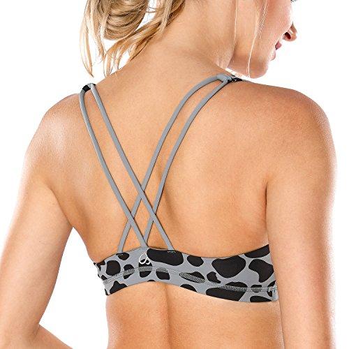 Crz yoga donna reggiseno sportivo yoga senza ferretto imbottite rimovibili 2 s