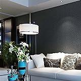 3D Vlies Uni Strukturtapete Home Interior Decor, schwarz