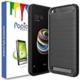 #6: POPIO™ Redmi 5A Back Cover Case Slim Rugged Shock Proof Bumper Armor Back Cover Case (Carbon Black)