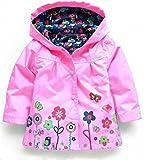 Los niños de la muchacha del bebé traje de la capa impermeable con capucha Outwear impermeable otoño cazadoras a prueba de agua