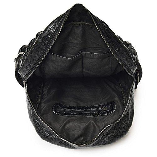 Mehrzweck- Mode Damen Niete Wasserdicht Einfach Praktisch Rucksack Handtasche Black